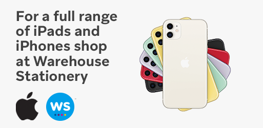 For a full range of iPads and iPhones, shop at Warehouse Stationery.